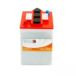 cod. 240TU  </br> 6V-240Ah   </br>   di.244-180-280 </br> acido libero / placca positiva tubolare